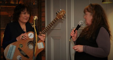 BAfeb1818 Eithne speaks and introduces artist singer..songwriter Evelyn Campbell