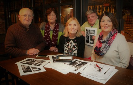 'Little Bray Writers Group' L-R Conor Dorcey Barbra Messitt Mary Fleming Anthony S. Carroll Terese O'Connor